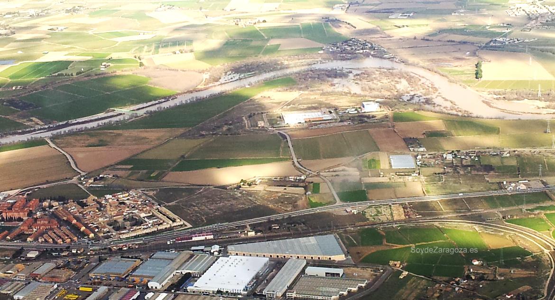 Riada del Ebro enero 2014 junto a La Cartuja de Zaragoza