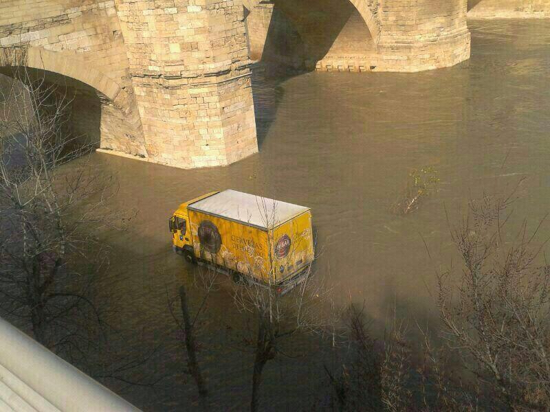 Camión de Ambar en el Ebro