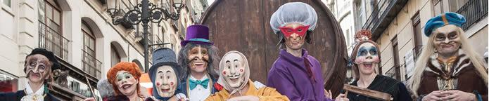 Personajes del Carnaval de Zaragoza en el Pasacalles Infantil del Domingo de Carnaval
