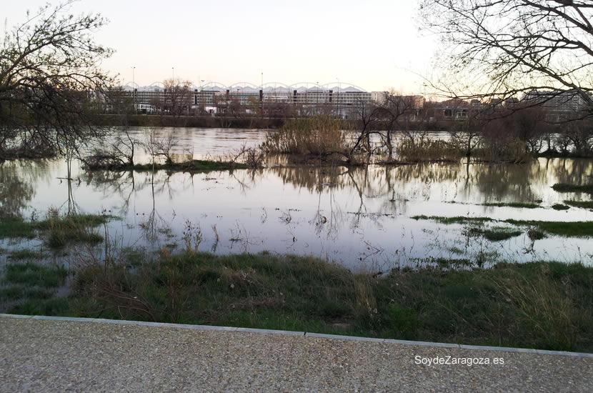 Zonas que normalmente son de paseo se las había comido el Ebro.