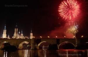 Fuegos Artificiales en las Fiestas del Pilar de Zaragoza