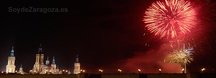 Fuegos Artificiales En Las Fiestas Del Pilar 2019