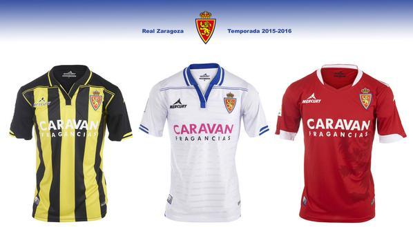 Las nuevas camisetas del Real Zaragoza para la temporada 2015 2016 9e146f7b62add