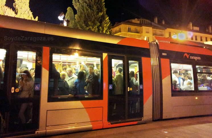 Horarios del Tranvía de Zaragoza en Navidad