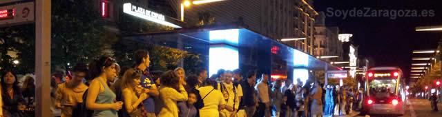 Tranvía de Zaragoza en las Fiestas del Pilar
