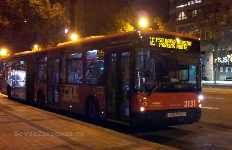 Línea de autobús especial al Parking Norte Expo para las Fiestas del Pilar