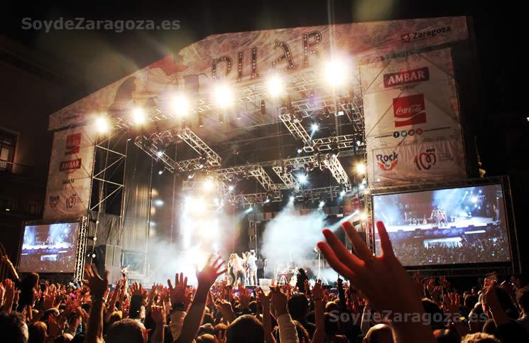 conciertos en la plaza del Pilar