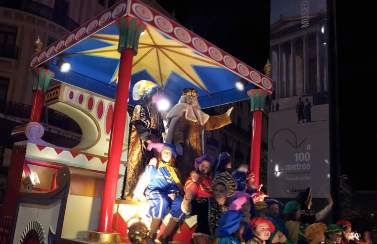 Imagen de la Cabalgata de Reyes de Zaragoza