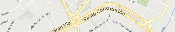 Listado de calles de tráfico restringido en las que se permite circular en bicicleta en Zaragoza
