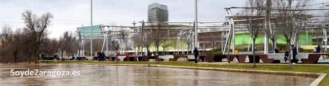 El Ebro amenza con inundar la zona baja de la Expo 2008