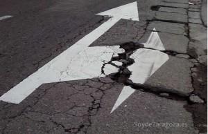 Una de las calles que serán asfaltadas en la macro operación asfalto de Zaragoza 2015