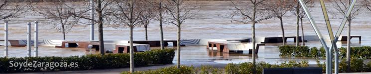 La orilla de la Expo fue cerrada al público por la inundación.
