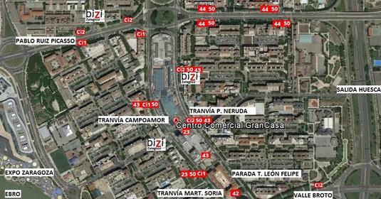 Plano de situación del Centro Comercial GranCasa.