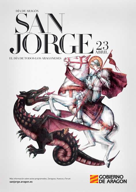 Cartel del día de San Jorge 2015, día de Aragón, 23 de abril.