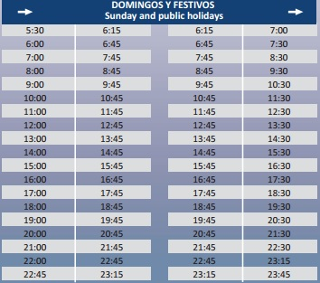 horarios autobus aeropuerto zaragoza: