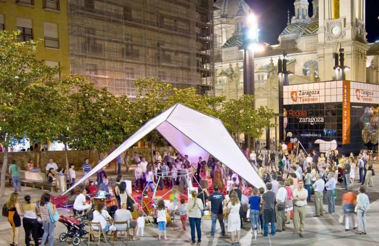 Docenas de actividades en la Noche en Blanco de Zaragoza