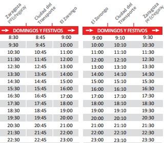 Bus zaragoza urbanizaci n el zorongo horarios tarifas y for Horario bauhaus zaragoza