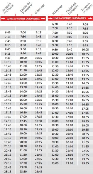 horarios-bus-de-zaragoza-a-el-zorongo