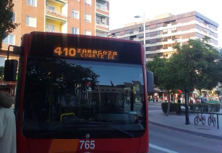 Bus Zaragoza-Cuarte de Huerva: horarios, tarifas y recorrido