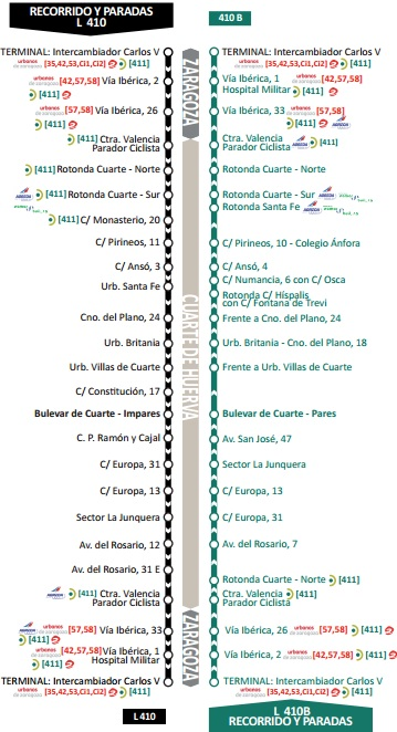 Snap Bus Zaragoza Cuarte de Huerva Recorrido, horarios y precios en ...