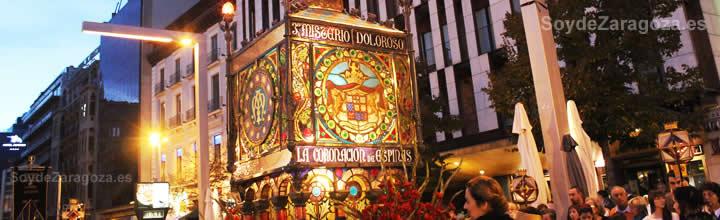 Información del Rosario del Cristal de Zaragoza.