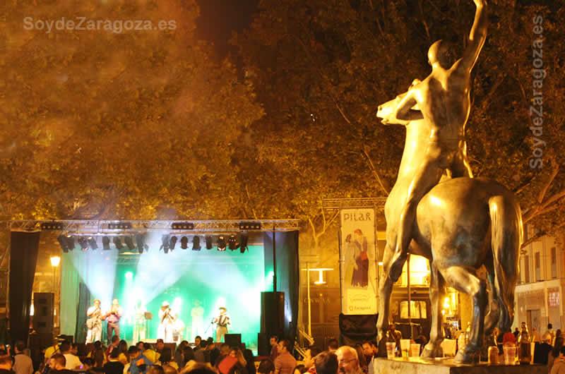 Conciertos en la Plaza de San Felipe en las Fiestas del Pilar de Zaragoza