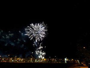 Fuegos Artificiales en las Fiestas del Pilar de Zaragoza 2016