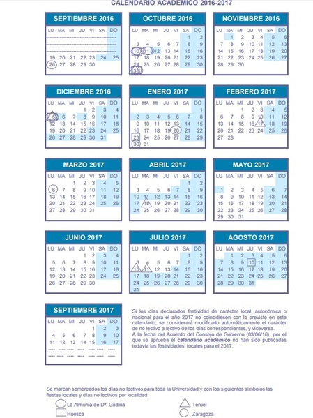 calendario-academico-universidad-de-zaragoza