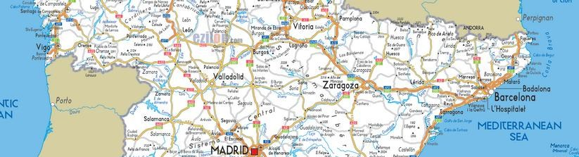 Cuánta distancia hay de Zaragoza a las principales ciudades de España.