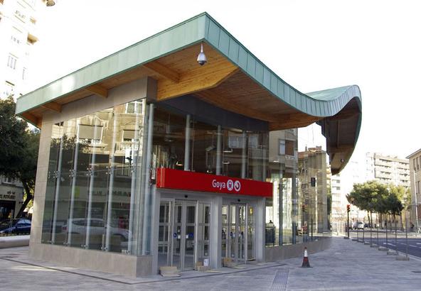 Estación de Goya en Zaragoza.