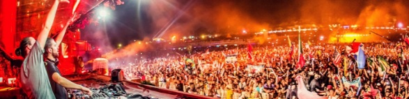 Concierto de Dimitri Vegas y Like Mike en el Parking Norte