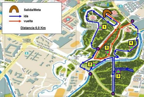 Mapa Parque Grande Zaragoza.V Carrera Del Rincon En El Parque Grande Labordeta