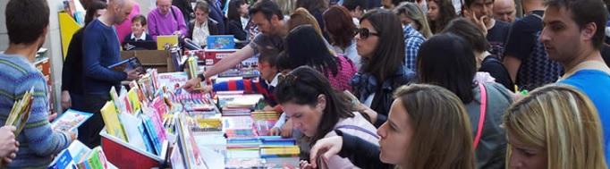 Actividades en el Día del Libro, San Jorge 2017 en Zaragoza