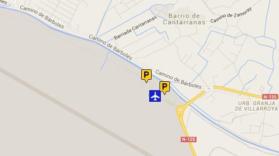 Situación de los aparcamientos del Aeropuerto de Zaragoza