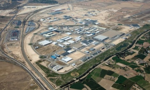 Plataforma Logística de Zaragoza PlaZa vista aérea.