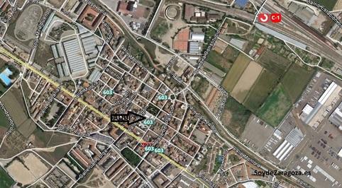 Localización del Centro Cívico de Casetas