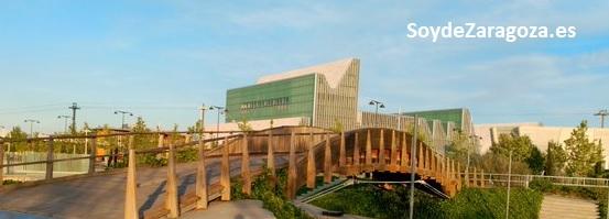 Vista del Palacio de Congresos desde el Parque del Agua