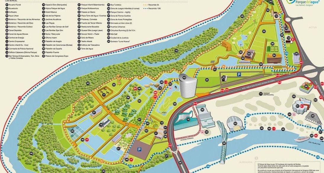 Guía de negocios y servicios del Parque del Agua