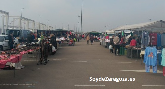 Rastro de Zaragoza en el Parking Sur de la Expo