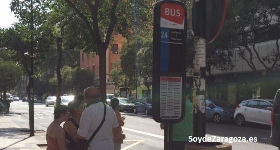 Parada de la línea 24 de AUZSA Zaragoza