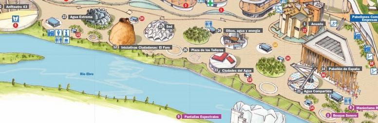 Plazas temáticas durante la Expo 2008