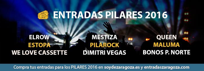 Comprar entradas para los conciertos de las Fiestas del Pilar 2016