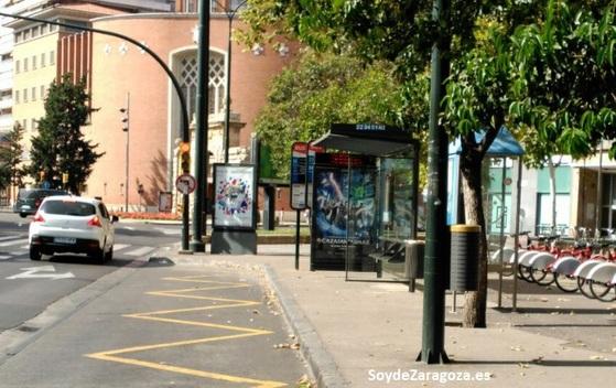 Paradas de la línea 22 en toda Zaragoza