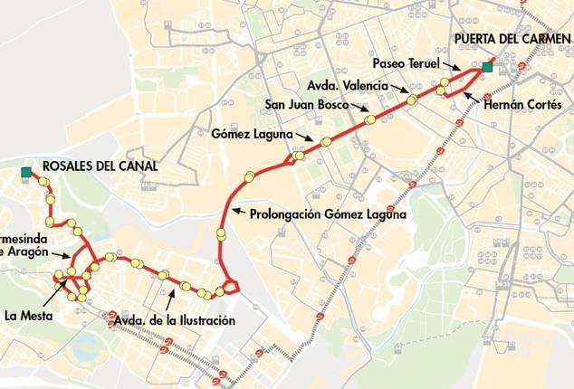 linea-41-zaragoza-plano-recorrido