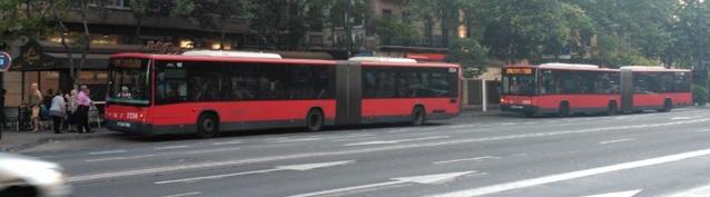 Recorridos y paradas de las líneas de autobús urbano de AUZSA en Zaragoza
