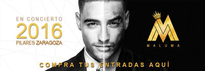 Entradas para el concierto de Maluma en el Parking Norte Pilar 2016 Zaragoza