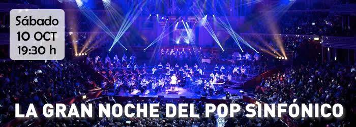 Concierto de La Gran Noche del Pop Sinfónico en las Fiestas del Pilar 2016