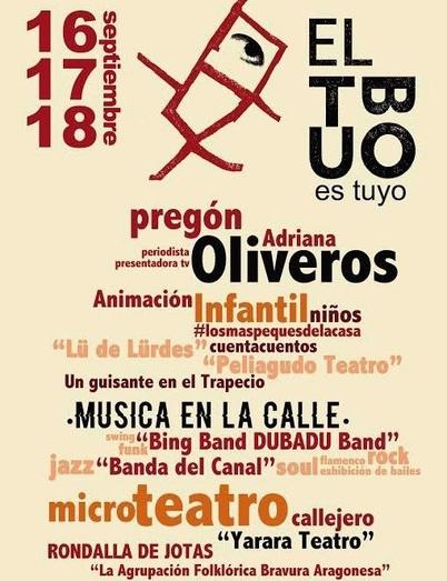 Cartel de las Fiestas de El Tubo 2016 en Zaragoza