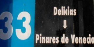 Línea 33 de Zaragoza en Paseo Pamplona, parada. tuzsa