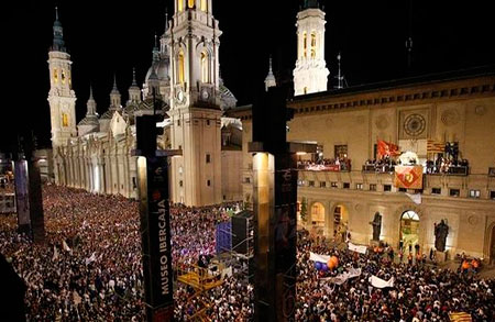 Todos los conciertos gratis de la Plaza del Pilar 2016